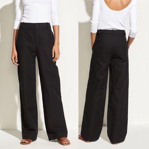 Vince High Rise Linen wide leg pants black size 6